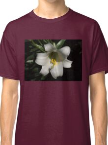Emerging from the Darkness - Pure White Easter Lily Classic T-Shirt