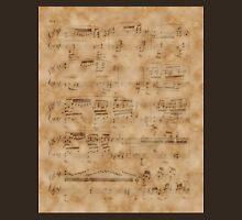 Vintage Music Sheet,Book Page Art Unisex T-Shirt