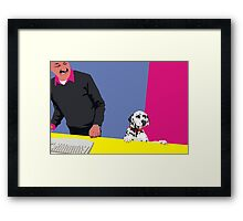 How may I help you? Framed Print