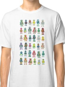Robot Line-up on White Classic T-Shirt