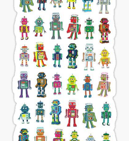 Robot Line-up on White Sticker
