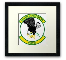 96th Air Refueling Squadron - Ubique - Everywhere Framed Print