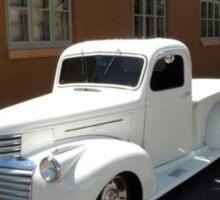 Camión Blanco en Santa Fe Sticker