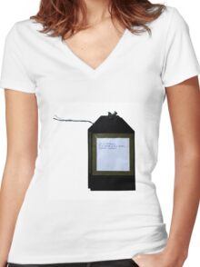 Poetry Tags Women's Fitted V-Neck T-Shirt