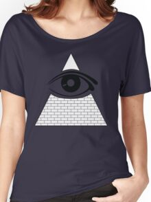 All Seeing Eye (Black/White) Women's Relaxed Fit T-Shirt