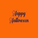 Happy Halloween in Elegant Font by Greenbaby
