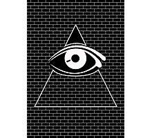 All Seeing Eye (White/Black) Photographic Print