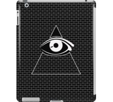 All Seeing Eye (White/Black) iPad Case/Skin