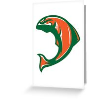 Irish Salmon (Green/Orange/White) - Spor Repor Salmon Greeting Card