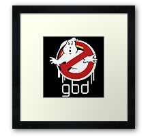 Funny Ghostbusters Framed Print