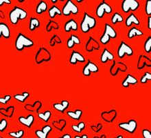 Random doodle 2 red with hearts Sticker