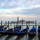 Gondolas at Dusk by Tiffany Dryburgh