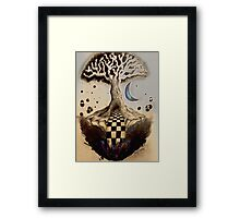 Pen and Ink Tree Framed Print