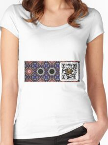 Car Decal Scan Portal Women's Fitted Scoop T-Shirt