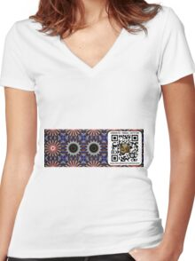 Car Decal Scan Portal Women's Fitted V-Neck T-Shirt
