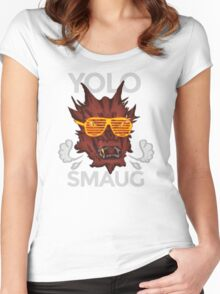 Yolo SMAUG! Women's Fitted Scoop T-Shirt
