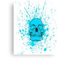 Skull: Cool Blue Canvas Print