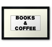 Books & Coffee Framed Print