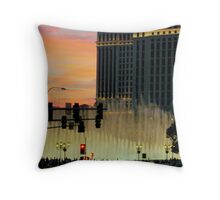 BELLAGIO FOUNTAINS from afar  ^ Throw Pillow