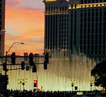 BELLAGIO FOUNTAINS from afar  ^ by ctheworld