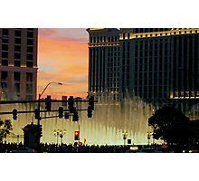 BELLAGIO FOUNTAINS from afar  ^ Photographic Print