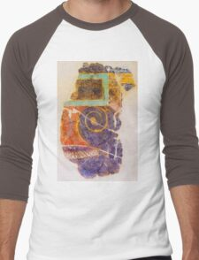 Antique drawing on the ancient wall, Rome, Italy Men's Baseball ¾ T-Shirt
