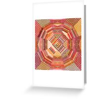 Dots And Lines Greeting Card