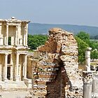 Panorama of Library of Celsus at Ephesus by Stephen Frost