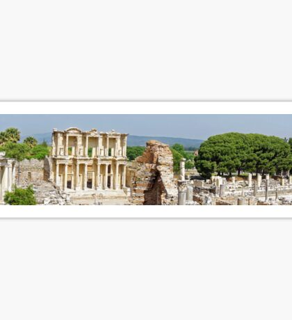 Panorama of Library of Celsus at Ephesus Sticker