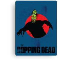 The Hopping Dead - Parody Zombie Movie Poster Graphic Canvas Print