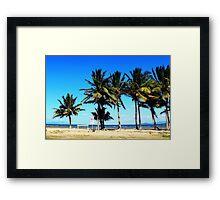 Ocean beach front view Framed Print
