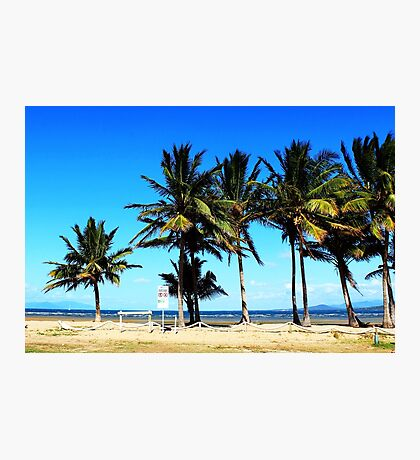 Ocean beach front view Photographic Print