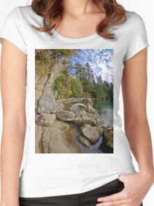 Larabee State Park on Chuckanut Drive Women's Fitted Scoop T-Shirt