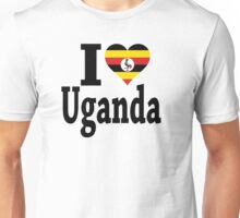I Love Uganda flag t-shirt Unisex T-Shirt
