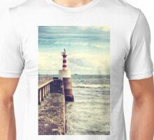 Amble Pier Lighthouse Unisex T-Shirt