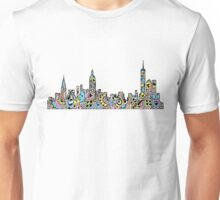 NYC Colored Mandala Skyline  Unisex T-Shirt