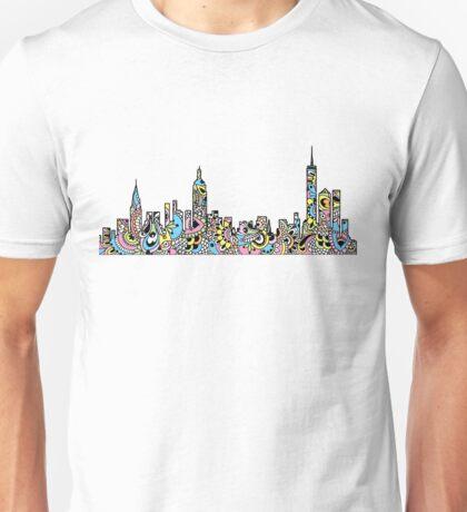 NYC Colored Mandala Skyline  Unisex T-Shirt