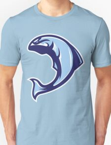 Winter Salmon (Blue/White/Light Blue) - Spor Repor Salmon Unisex T-Shirt