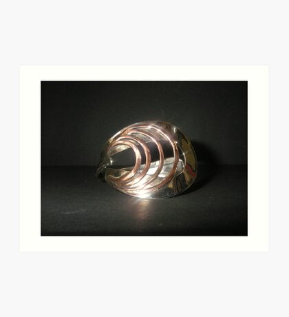 Bangle (Art Deco) from old spoon Art Print