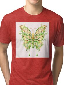 Fanciful Butterfly Tri-blend T-Shirt