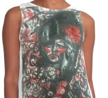 Expressive Amy Winehouse Contrast Tank
