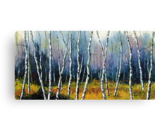 Winter Reverie by Lisa Elley. Palette knife painting in oil  Canvas Print