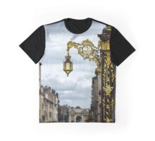 Beautiful golden covered street lamp in Nancy, France Graphic T-Shirt