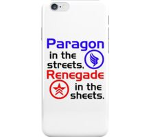 Paragon vs. Renegade iPhone Case/Skin