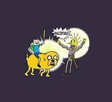 Finn and Jake surprise Lemongrab. Unisex T-Shirt