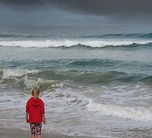 The storm at sea by Jeff  Wilson