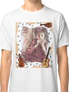 BOB DYLAN PLAYING HARMONICA Classic T-Shirt