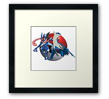 Ash-Greninja & Latios Framed Print