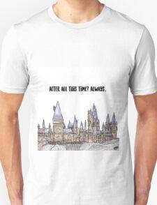 Hogwarts watercolor Unisex T-Shirt