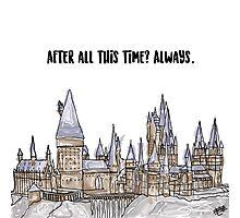 Hogwarts watercolor Photographic Print